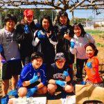 流通経済大学女子ラグビー部GRACEがねぎ収穫体験とお手伝いに!